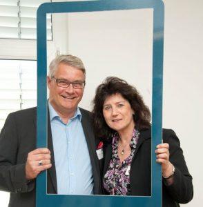 Herr Martin Everding (Geschäftsführer) und Frau Marion Bohlen (Assistentin)